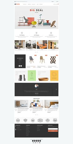 Getchair Furniture Store Template is a good choice for selling – - Blackfriday Design Ecommerce Website Design, Website Design Layout, Layout Design, Website Designs, At Home Furniture Store, Kitchen Furniture, Cheap Furniture, Furniture Catalog, Unique Furniture
