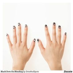 Black Dots On Blending Minx® Nail Art