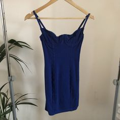 ed83e3b9d0bf Royal blue American apparel bustier dress. Underwire dress. - Depop Bustier  Dress, American