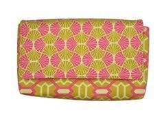 Gold & Pink Printed Art Nouveau Honeycomb Pattern by JetSetCoco, $55.00