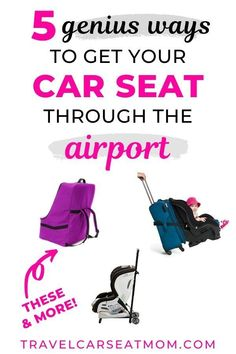 When you're traveling with kids, everything gets a little more complicated! Check out our top family travel hacks for getting your car seat through the airport. These will make flying with a car seat that much easier! Toddler Travel, Travel With Kids, Baby Travel, Travel Tips With Toddlers, Packing Tips For Travel, Travel Essentials, Travel Hacks, Packing Hacks, Travel Advice