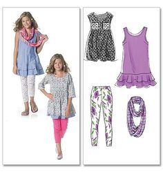 McCalls Tween Sewing Patterns Review & Style Guide - possible pattern for top to go with skirts