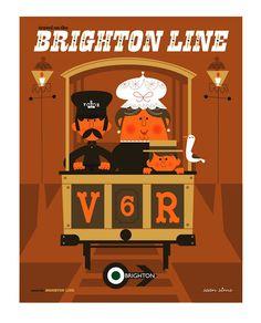 Sean Sims  Brighton Line print