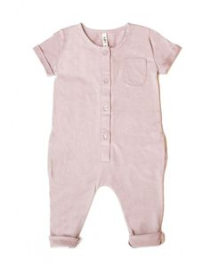 Gray Label Organic Playsuit In Vintage Pink