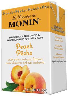 Peach Fruit Smoothie Mix - Fruit Smoothie Mixes - Products - Monin  (Like Essentials at Univ. Hosp.)