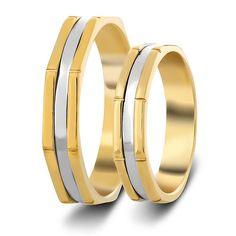 ΒΕΡΕΣ ΔΙΧΡΩΜΕΣ : Βέρες Γάμου Δίχρωμες κωδ. σχ.106B