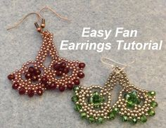 Hi Fellow Beaders, This week's tutorial is pair of earrings using just seed beads and rondelles. I created in two different colorways and also different leng...