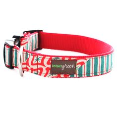 Peppermint Patty Holiday Dog Collar   LFF Designs   www.facebook.com/LFFdesigns