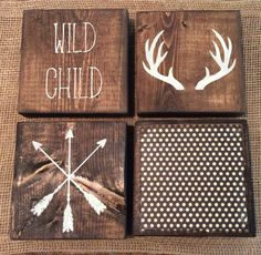 Nursery Decor | Wild Child Decor | Rustic Boys Room | Rustic Nursery | Boho Baby Boy | Kids Room | Kids Wall Decor | Arrow Wall Decor