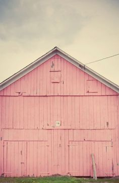 Random Placements » How can a pink barn not inspire someone?!