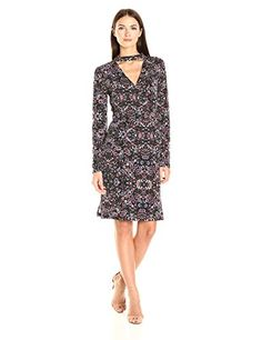 857c4ba940719 online shopping for BCBGeneration Women's Long Sleeve Printed Surplice Dress  from top store. See new offer for BCBGeneration Women's Long Sleeve Printed  ...