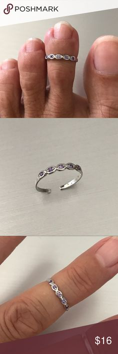Peace Sign Toe Ring Solid Sterling Silver 925 Best Jewelry Face Height 19 mm