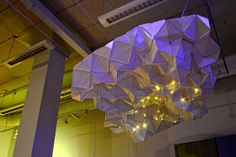 Tesselation Cloud - ceiling-wall installation fixture