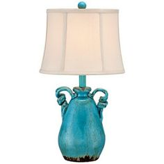 Sofia Turquoise Ceramic Table Lamp