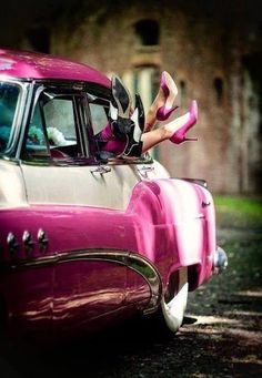 Pink cadillac ,pink shoes