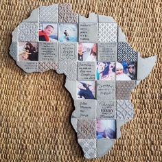 We use your chosen 8 photo's. South African gifts - Unique to Earthly Mosaics Collage Making, Mosaics, Collages, Christmas Stockings, Concrete, Unique Gifts, African, In This Moment, Holiday Decor