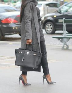 Birkin Hermes www. Hermes, Urban Fashion, Womens Fashion, Street Fashion, Fashion Fashion, Street Style, Winter Outfits For Work, Trends, Mode Outfits