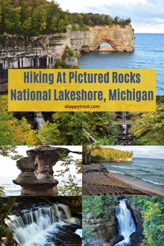 Hiking at Pictured Rocks National Lakeshore in Michigan Usa Places To Visit, Places To Travel, Places To Go, Fall In Michigan, Michigan Travel, Vacation Trips, Dream Vacations, Vacation Ideas, Munising Michigan