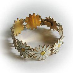 Aksel Holmsen Enameled Sterling Silver Vermeil Bracelet