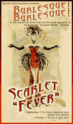 Image detail for -Filed under vintage flyer burlesque illustration Burlesque  Show c8d1d2931