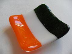 Irish Flag fused glass mini dish by sherrylee16 on Etsy, $15.00
