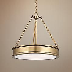 """Harbour Point 19"""" Wide Liberty Gold Pendant Light"""