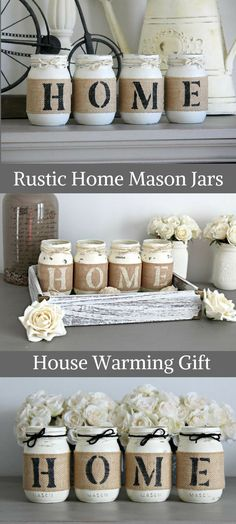 I love these Mason Jars.  They make the perfect housewarming gift for a newly married couple that loves the country!  Beautifully packaged with card.  #affiliate #homemade #farmhouse #giftidea