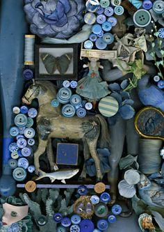 ButtonArtMuseum.com - Claire Rosen - Still Life Study in Blue