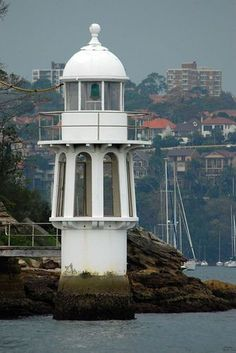 The Robertson's Point lighthouse at Cremorne, Sydney Harbour, Australia