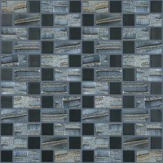 Found it at Wayfair - Moon Blends Random Sized Eco Glass Mosaic in Black Night