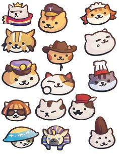 Love Neko Atsume and want to stick the cats on almost anywhere! Youre in luck because right here are the rare cats you can now physically own! Cute Little Kittens, Cats And Kittens, Cute Cartoon Animals, Cute Animals, Cat Collector, Sushi Cat, Rare Cats, Neko Atsume, Kitty Games