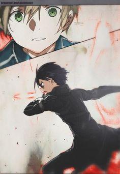 Sword Art Online   Alicization   Eugeo & Kirito ~ I loved this part. Even when he's not in SAO, he's still badass