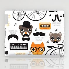 Some fashionable inspiration and new trends for your online birthday or christmas shopping spree. Hipster mustache animal jazz illustration design iPad Case by Little Smilemakers Studio - $60.00