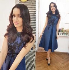 The ombré dress: The actor makes a strong case for dip-dye as she sports this Theia Couture dress with minimal makeup and jewellery.The winter floral dress: Shraddha Kapoor donned this floral Forever New dress which she paired with brown ankle boots. Bollywood Actress Hot Photos, Bollywood Fashion, Bollywood News, Shraddha Kapoor, Blue Midi Dress, Blue Dresses, Forever New Dress, Dress Indian Style, Indian Dresses