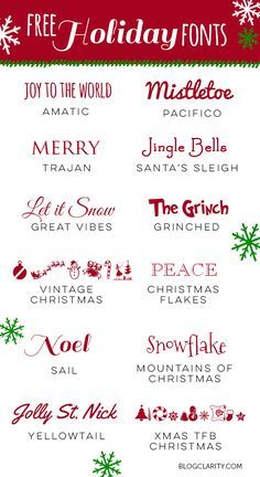12 Free Holiday Fonts - Cricut T Shirts - Ideas of Cricut T Shirts - 12 Free Holiday Fonts perfect free fonts for holiday cards holiday party invitations printables gift guides and Holiday Fonts, Christmas Fonts, Holiday Cards, Christmas Crafts, Xmas, Christmas Nativity, Christmas Holiday, Christmas Vinyl, Free Christmas Printables