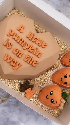 Pumpkin Gender Reveal, Chocolate Hearts, Chocolate Gifts, Gender Reveal Themes, Birthday Cake, Baby Announcements, Pumpkin Crafts, Chocolate Covered Strawberries, Halloween Gifts