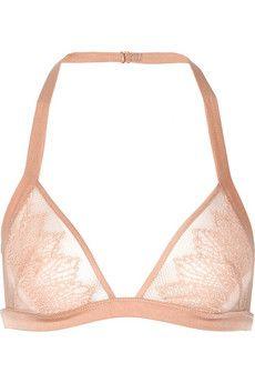 Kiki de Montparnasse Esprit tulle, stretch-lace and satin soft cup bra | NET-A-PORTER