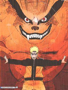 Anime: Naruto/Naruto Shippuden. Personajes: -Kurama/Zorro de 9 colas. -Naruto.