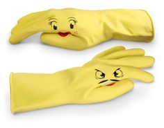 """Dishplay fun gloves shared by @museforhire:   """"With gloves like these you might not even have to bribe the kids too much.  Go play some house. You know you want to."""""""