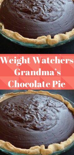 Grandma's Chocolate Pie - Healthy Dessert Weight Watchers Diet, Weight Watchers Desserts, Grandma's Chocolate Pie, Chocolate Meringue, Dessert Chocolate, Homemade Chocolate, Ww Desserts, Healthy Desserts, Weigth Watchers