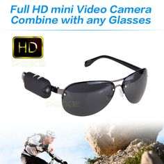 2016 NEW HD 1920*1080 camera with any bicycle glasses sports video camcorder mini dv Wearable Vidicon on the glasses legs 30fps