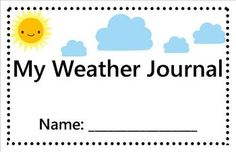 Weather Journal- FREE