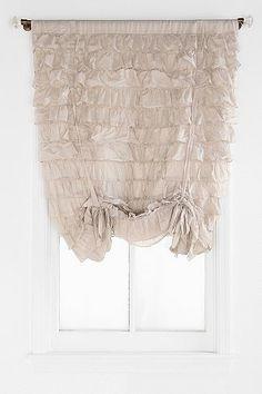 For A Girlu0027s Nursery   Waterfall Ruffle Draped Shade Curtain