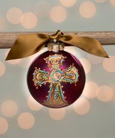 Another great find on #zulily! Pink Cross Ornament #zulilyfinds