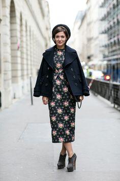 Evangelie Smyrniotaki street style in Paris.