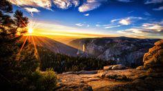 Sun and Earth Amazing Site  | Fond d'écran Coucher de soleil dans les montagnes - My HD Wallpapers