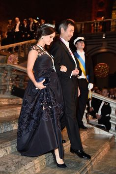 Princess Sofia of Sweden and Nobel Prize in Physics, Professor Takaaki Kajita arrive at the Nobel Prize Banquet 2015 at City Hall on December 10, 2015 in Stockholm, Sweden