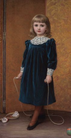 Girl with Jump Rope:  1892 girl's dress