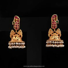 Gold Antique Jhumka from D.A.R Jewellery