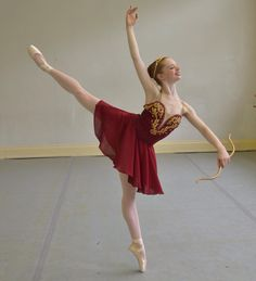 Variation from Diana and Acteon ballet ... arabesque penchee pointe ballerina cupid costume tutu dance dancers athlete flexibility